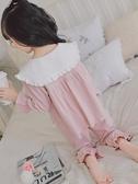 女童睡衣長袖春秋純棉套裝小女孩公主中大童