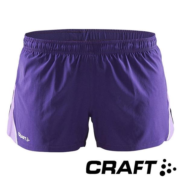 【瑞典CRAFT】女 Focus Race運動休閒短褲『紫』1903207 短跑 運動褲 慢跑褲 短褲 印花