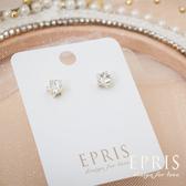 氣質系耳環 簡約星鑽(金)貼耳耳環 飾品品牌 純銀耳環