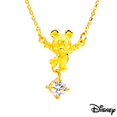 Disney迪士尼金飾 開心米奇 黃金項鍊