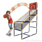 大號兒童籃球架室內可行動投籃機游戲充氣籃球戶外體育運動籃球架 LannaS YTL