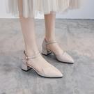 鞋子女2020年新款百搭春季淑女仙氣單鞋溫柔粗跟高跟鞋中跟夏女鞋