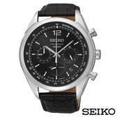 SEIKO精工  俊秀爾雅三眼計時視距儀石英腕錶 SSB097P1