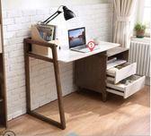 北歐簡約臺式家用電腦桌書櫃書桌壹體實木轉角辦公桌寫字臺BA1V 爾碩數位3c