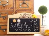 約翰家庭百貨》【TA030】原木可掛式磁性雙面小黑板 小白板 留言板 門牌 標示牌 送造型小磁鐵