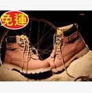 復古時尚真皮牛皮優質男短靴100d158...