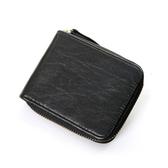 真皮皮夾(短夾)-歐美復古對折簡約男錢包2款73qs45[時尚巴黎]