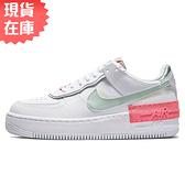 【現貨】NIKE Air Force 1 Shadow 女鞋 休閒 經典 分層設計 拼接 白 綠【運動世界】CI0919-112
