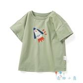 男童T恤女寶寶短袖T恤兒童上衣文藝棉【奇趣小屋】