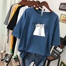 短袖T恤 加肥特大碼胖mm短袖t恤女夏裝新款韓版寬鬆顯瘦純棉上衣200斤