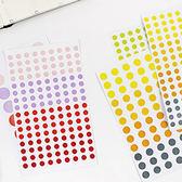 【BlueCat】大中小圓形點點實用標籤貼紙 (6入)
