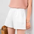 短褲2020年夏季新款雪紡寬管褲女高腰寬鬆薄款黑色a字西裝超短褲 韓語空間