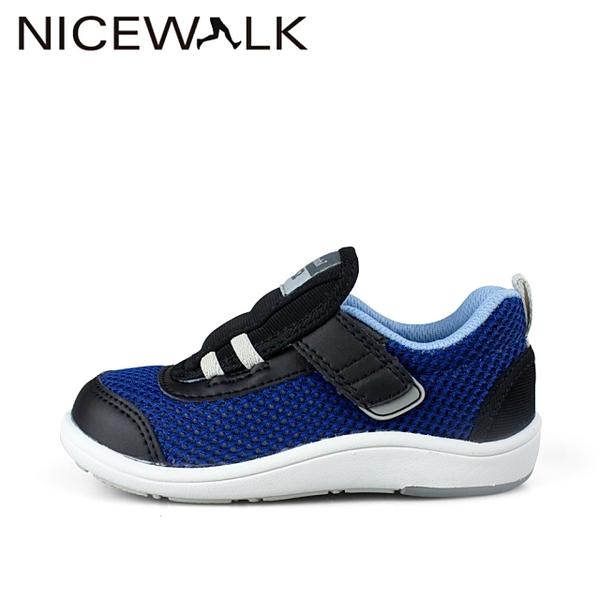 日本Combi童鞋NICEWALK 醫學級成長機能鞋C2102BL藍(中小童)