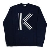 【KENZO】k LOGO長袖上衣(深藍) F655PU2533LD 77