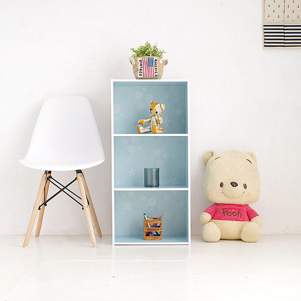 台灣製 三層櫃 花系列三格組合櫃 書櫃 三格書架 展示置物床頭櫃《生活美學》