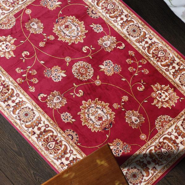 范登伯格 紅寶石輕柔絲質感地毯-踏墊-門墊-薔薇-50x70cm