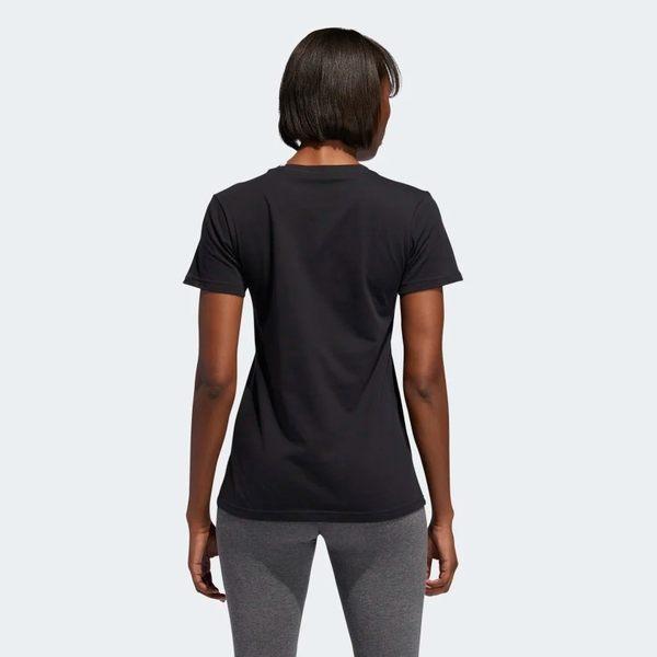 ADIDAS BADGE OF SPORT TEE 女裝 短袖 休閒 慢跑 透氣 經典 基本款 黑【運動世界】ED8169