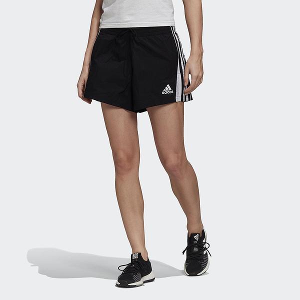 ADIDAS 短褲 訓練 3-STRIPES 運動短褲 黑 女 (布魯克林) FS6154