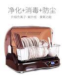 烘碗機家用小型迷你桌面臺式烘碗櫃廚房碗碟筷餐具烘干機YYP ciyo 黛雅