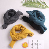 新款兒童圍巾秋冬百搭嬰兒圍巾男童冬季毛線圍巾女童柔軟針織圍脖