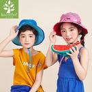 Lemonkid 檸檬寶寶 兒童 防曬 帽子 漁夫帽 盆帽 動物 附綁帶 遮陽 男女款 KQ15296