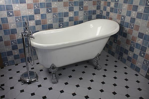 東方衛浴/壓克力雙層保溫浴缸/獨立式浴缸/歐式貴妃浴缸1.2-1.7米