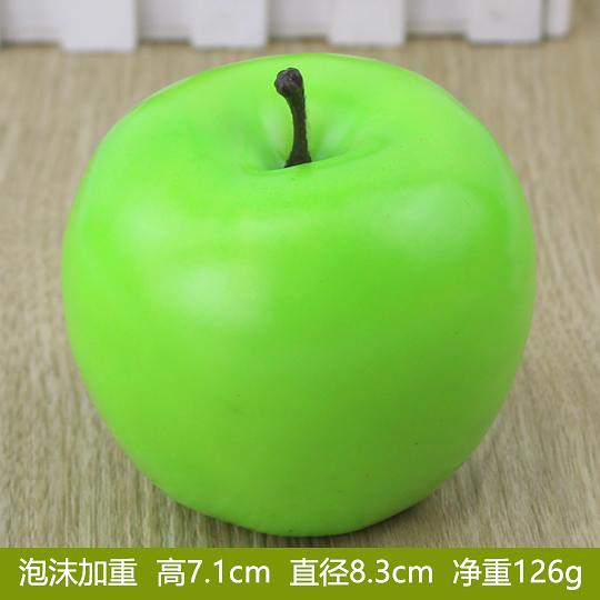 假蘋果 青蘋果金蘋果仿真水果蔬菜模型道具聖誕節假水果裝飾擺件(加重青蘋果)─預購CH3090