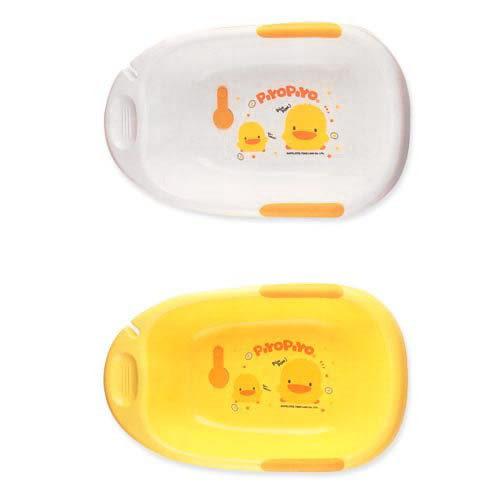 【奇買親子購物網】黃色小鴨雙色豪華型沐浴盆(黃色/白色)