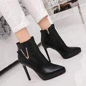 高跟鞋 雙11靴子女短靴2018秋季新款時尚馬丁靴百搭韓版網紅靴性感高跟女靴子
