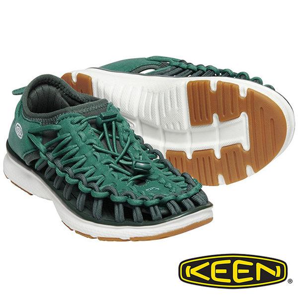 【Keen】UNEEK O2童拉繩涼鞋『綠』1020581 童鞋 健行.涼鞋.自行車.溯溪.健走.海邊.沙灘鞋.戶外.露營