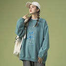 衛衣女士加絨加厚2020年新款圓領秋冬寬鬆韓版上衣潮秋季外套ins 黛尼時尚精品