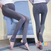 孕婦絲襪春秋季連褲襪專用彈性襪中厚款打底襪子踩腳托腹可調節