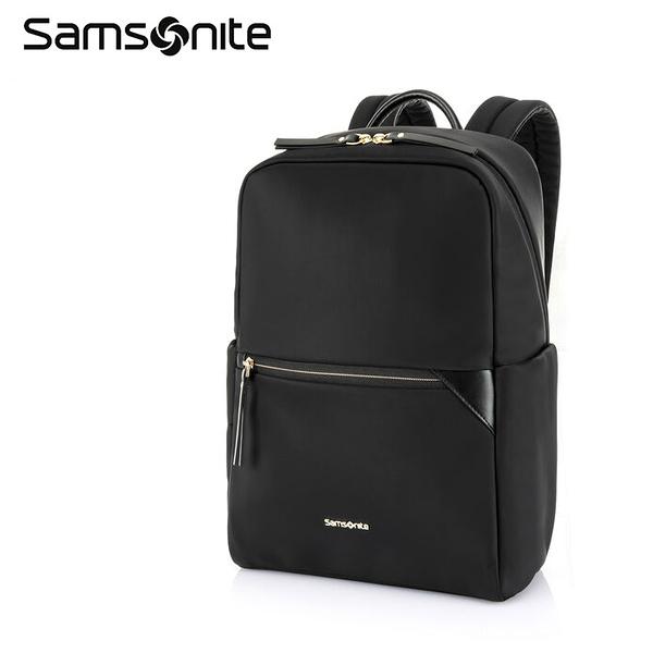 ↘7折 Samsonite 新秀麗【PRUDENCE ECO HX1】14吋筆電後背包+平板 背部隱藏口袋 可插掛 抗菌