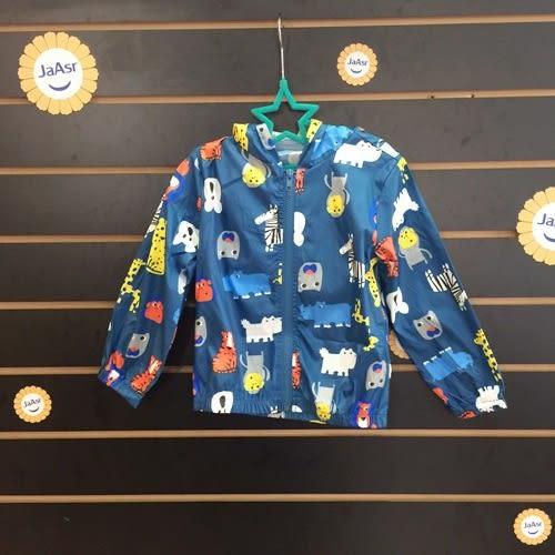 ☆棒棒糖童裝☆(37136)秋男童女童彩色動物防風連帽拉鏈外套 5-15