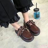 中大尺碼娃娃鞋 韓版原宿日系軟妹小皮鞋加絨單鞋女學院風百搭厚底鞋 DR11282【Rose中大尺碼】