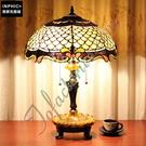 INPHIC-民國創意歐式復古古堡客廳茶几魚鱗片狀臥室彩色玻璃檯燈_S2626C