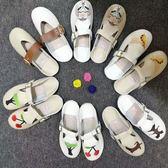 奶奶鞋 女正韓套腳平底懶人半拖軟底包頭涼拖鞋
