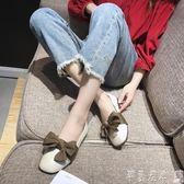 女鞋豆豆鞋單鞋女2019夏季新款韓版護士鞋百搭網紅鞋子淺口奶奶鞋平底豆豆鞋 【時尚新品】