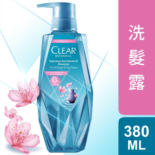 CLEAR淨 植覺保濕舒緩去屑洗髮露 櫻花精萃380ml
