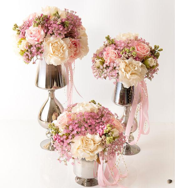 高檔模擬花成品 客廳餐桌擺放絹花套裝  -bri01008
