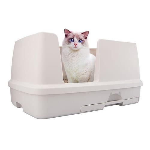 [寵樂子]日本Unicharm嬌聯 寬廣大雙層貓砂盆-抗菌除臭貓便盆