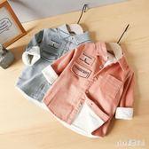 大尺碼襯衫 男童加厚加絨長袖燈芯絨襯衣秋冬童裝兒童男襯衫小童上衣 js17180『Pink領袖衣社』
