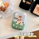 自制款奶牛小熊唇膏收納包便攜口紅包拉鏈盒【橘社小鎮】