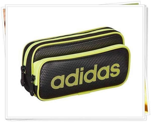 愛迪達 adidas 雙層 防水筆袋 化妝包 銀黑 226315 黑綠 226308 灰白 226322 正版 奶爸商城