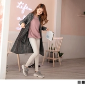 《EA2643》羊毛混紡格紋長版襯衫/外套  OrangeBear
