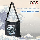 Asics 托特包 Sports Moment Tote 黑 粉紅 斜背包 東京 Tokyo 運動休閒【ACS】 3193A095002