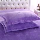 枕套枕套純色加厚法蘭絨枕頭套法萊絨單雙人枕芯套珊瑚絨枕套  新年禮物