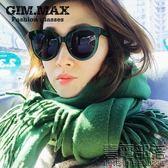 韓國明星同款太陽鏡女圓形大框墨鏡復古黑超防紫外線眼鏡潮