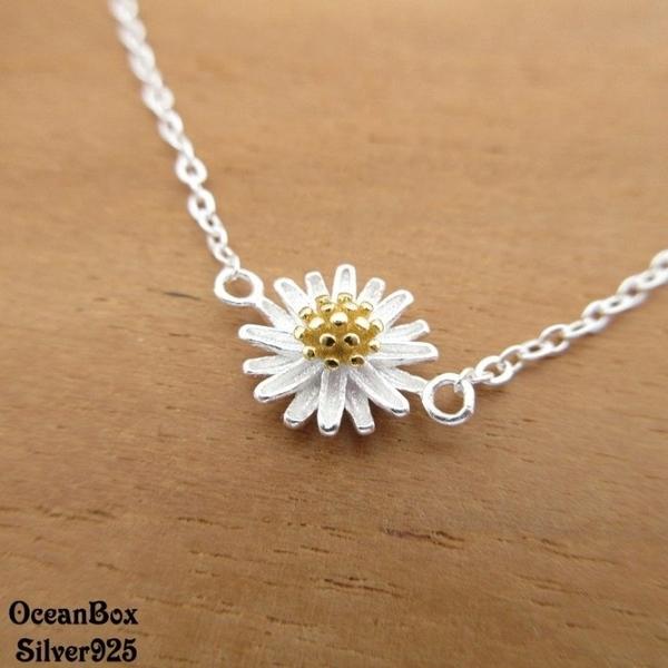 §海洋盒子§清新甜美雙色小雛菊925純銀手鍊《925純銀》