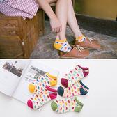 新款 森系全棉女船襪 貓頭女襪 襪子《小師妹》yf633